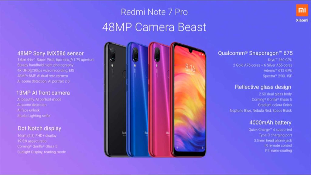 Top 5 Features of Redmi Note 7 Pro