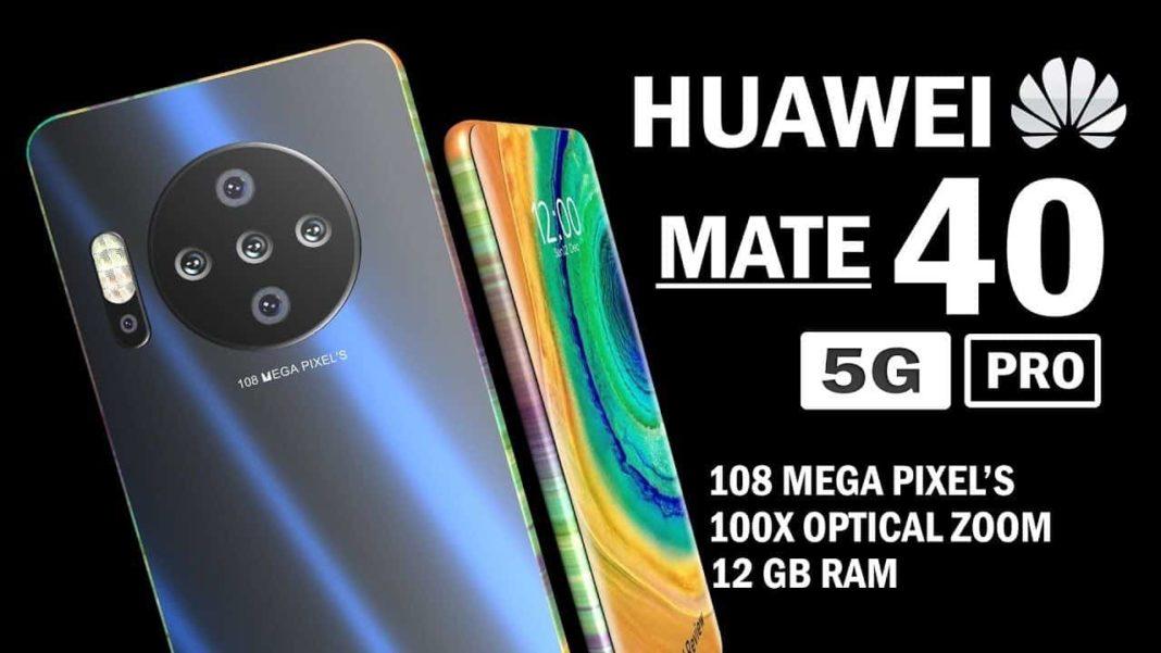 Penta rear camera set up, Huawei Mate 40 pro design reveals