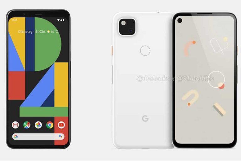 Google pixel 4A renders revealed via leaks