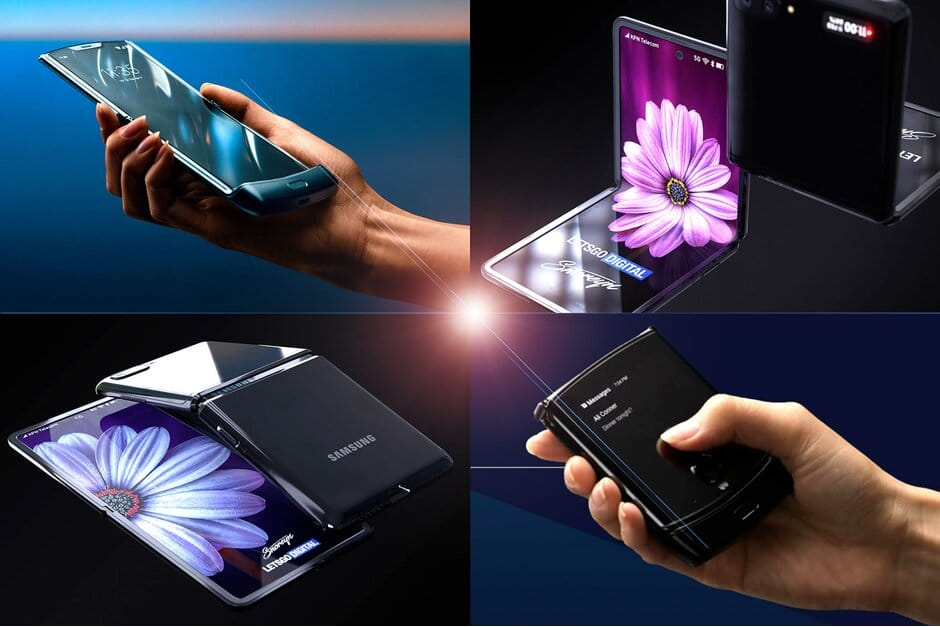 Samsung Galaxy Z Flip renders revealed in a commercial ran by Samsung during the Oscars