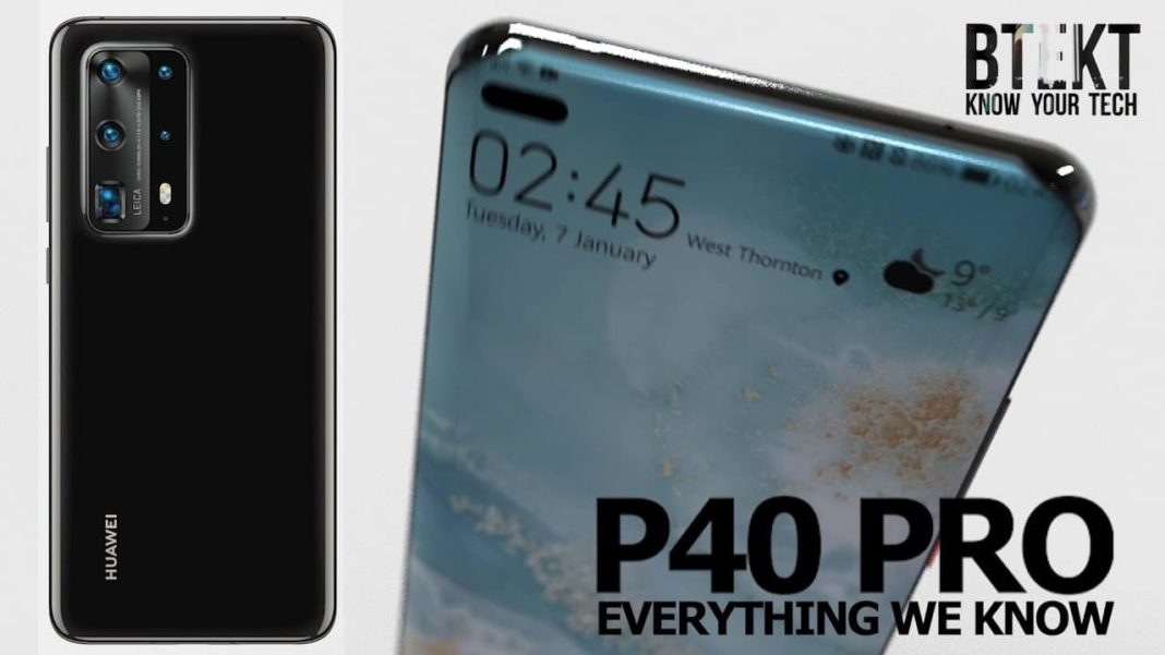 Press renders reveal detailed design of Huawei P40 and P40 Pro