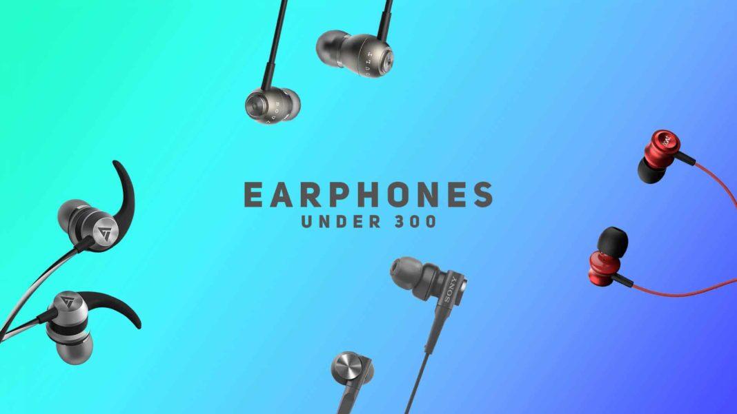 earphones under 300