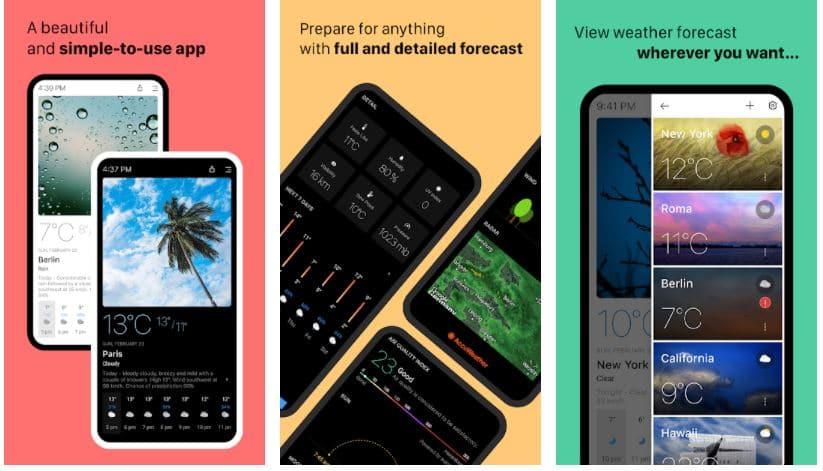 The 11 Best Weather Apps For Android in 2021